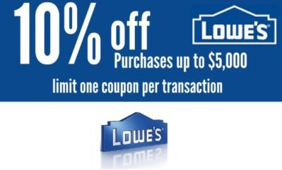 image relating to Lowes 10% Printable Coupon referred to as A person (1X) Lowes 10% OFF Printable Discount codes _ Within just Shop On the internet