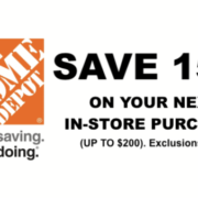 One 1x Hd 15 Off Home Depot Printable Coupons In Store Valid